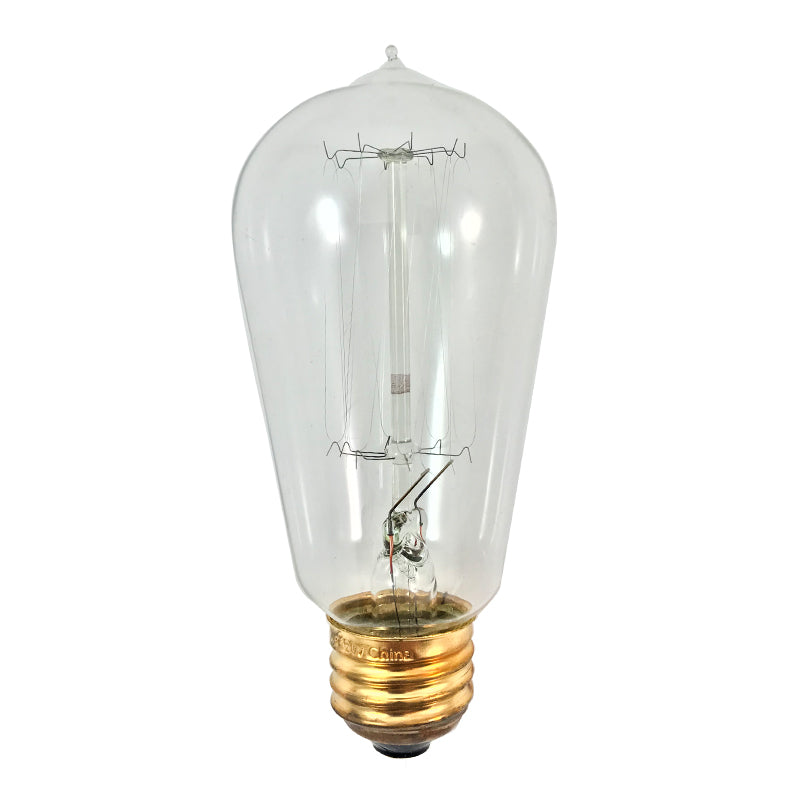 Satco 60w 120v ST19 Clear Vintage Style Incandescent Light Bulb