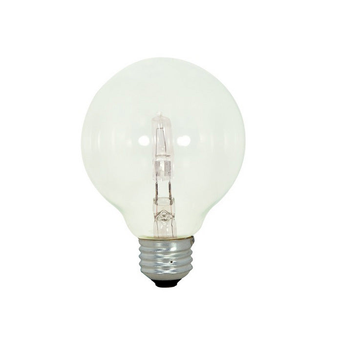 Satco 43w 120v G25 Globe Halogen Light Bulb E26 Medium base