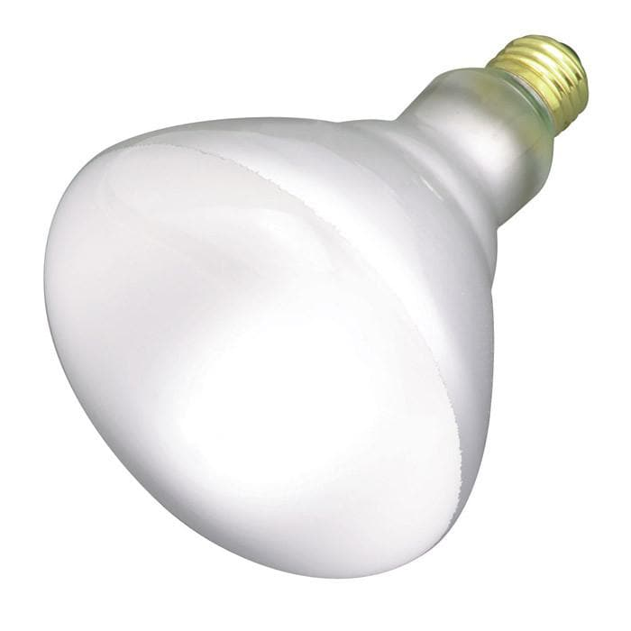 Satco S2855 120W 120V BR40 Frosted E26 Base Incandescent light bulb