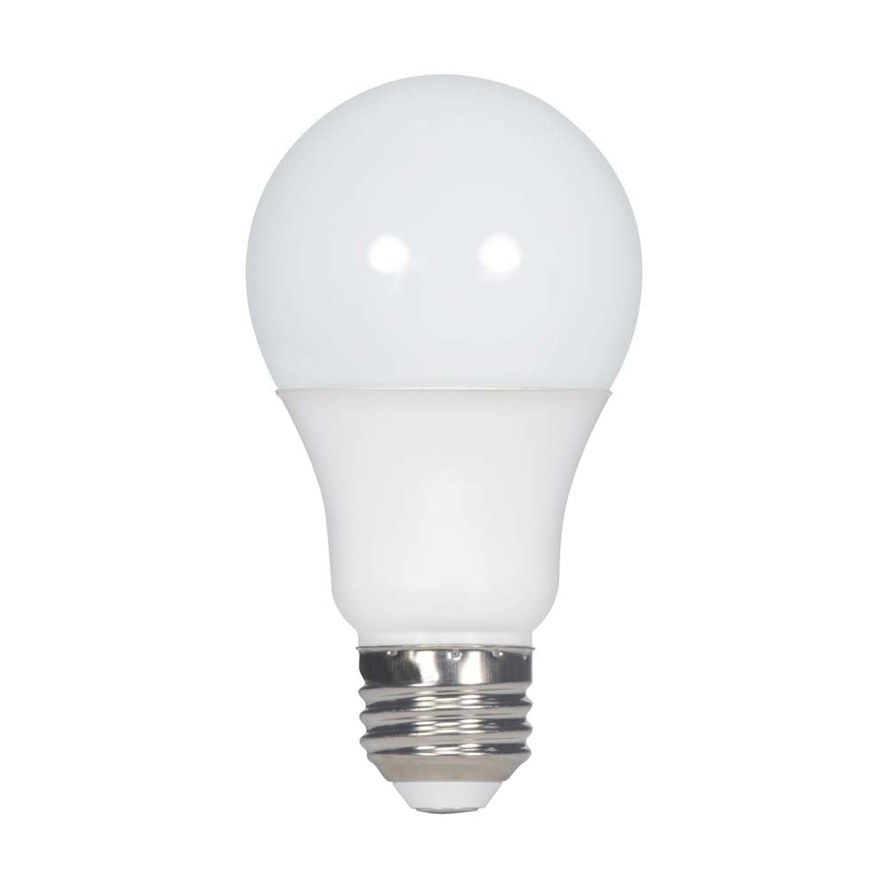 4Pk - Satco 5.5w A19 LED Frosted White 4000k Cool White 450LM Light bulb