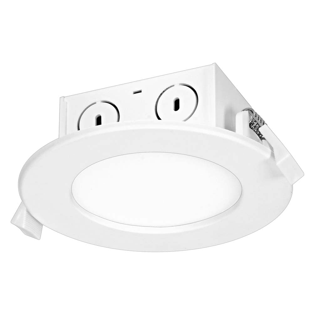 Satco 8.5w LED Direct Wire Downlight Edge-lit 4 inch 4000K 120 volt Dimmable