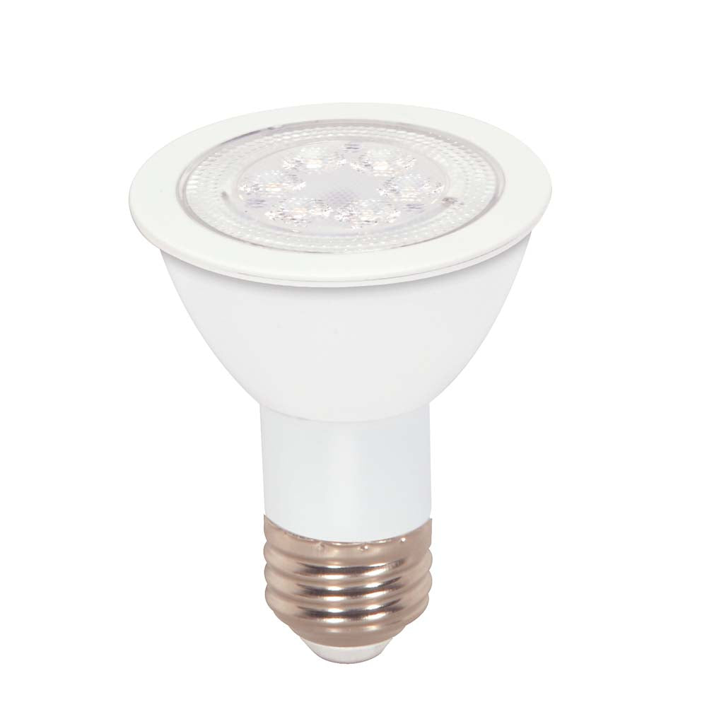 Satco 7w PAR20 LED Amber color 40 deg. beam spread Medium base 120 volts