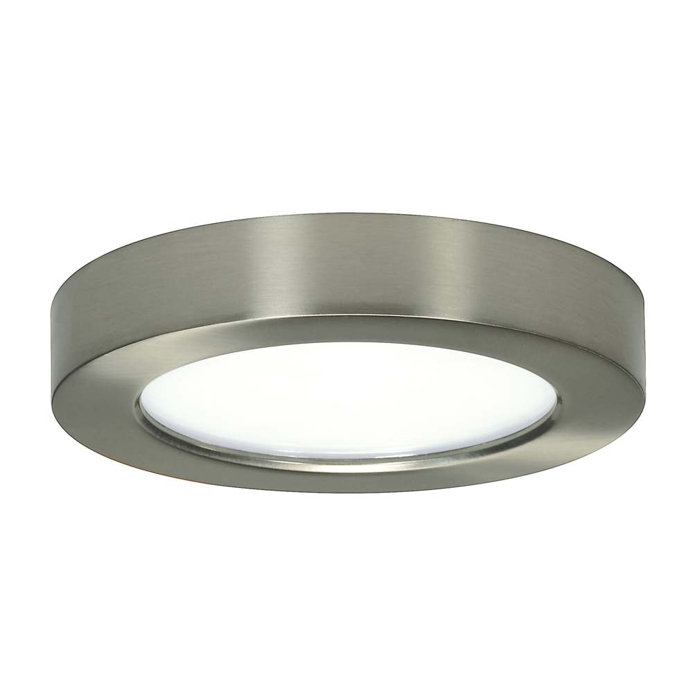 Satco 5.5in. 10.5w LED Fixture 2700K Round Brushed Nickel Finish 120 volts