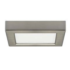 Satco 5.5in. 10.5w LED Fixture 2700K Square Brushed Nickel Finish 120 volts