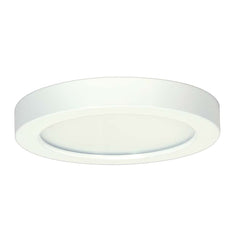 Satco 7in. 13.5w Flush Mount LED Fixture 3000K RoundWhite Finish 120 volts