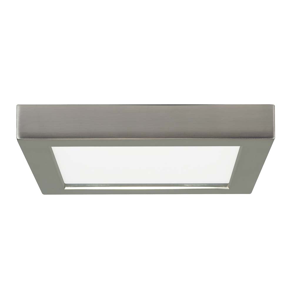 Satco 7in. 13.5w LED Fixture 2700K Square Brushed Nickel Finish 120 volts