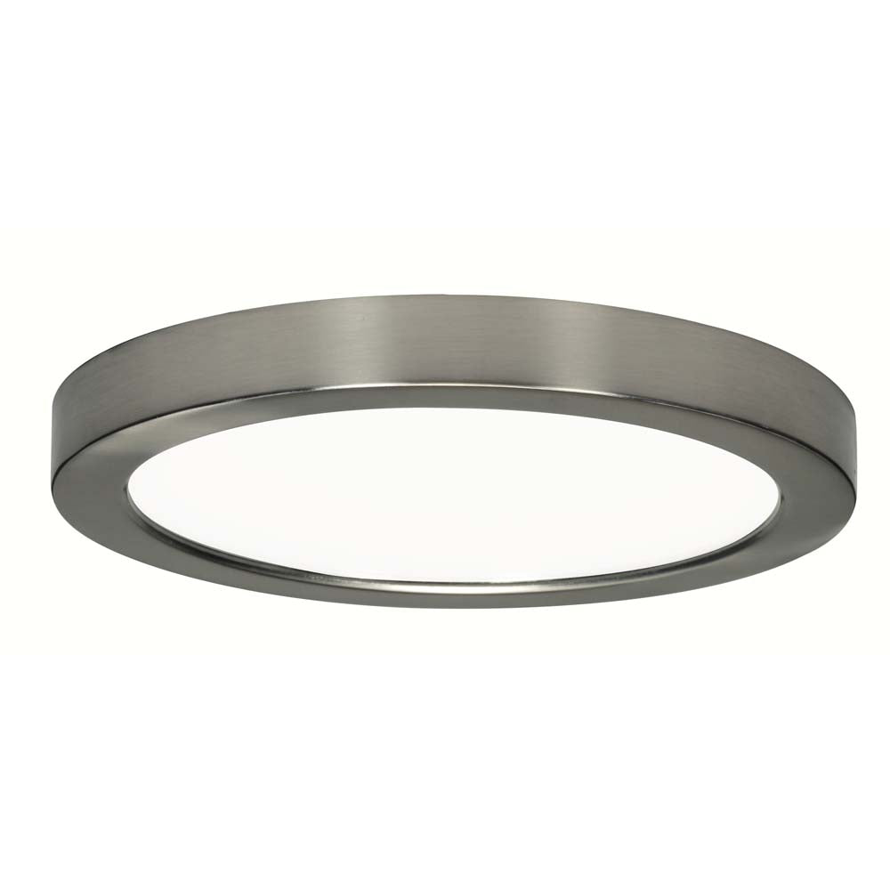 Satco 9in. 18.5wLED Fixture 2700K Round Brushed Nickel Finish 120 volts