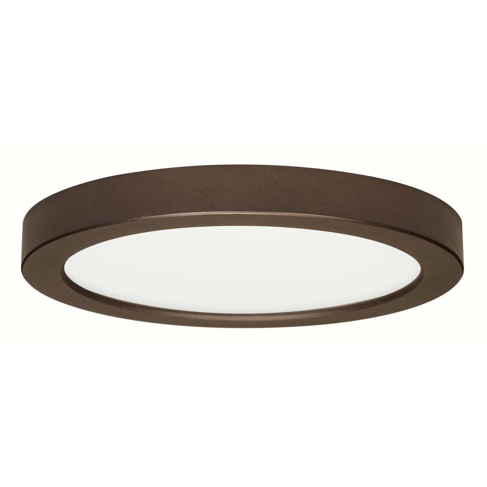 Satco 9in. 18.5w Flush Mount LED Fixture 2700K Round Bronze Finish 120 volts