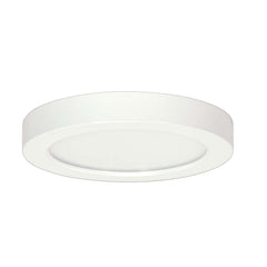 Satco 9in. 18.5w Flush Mount LED Fixture 3000K Round White Finish 120 volts