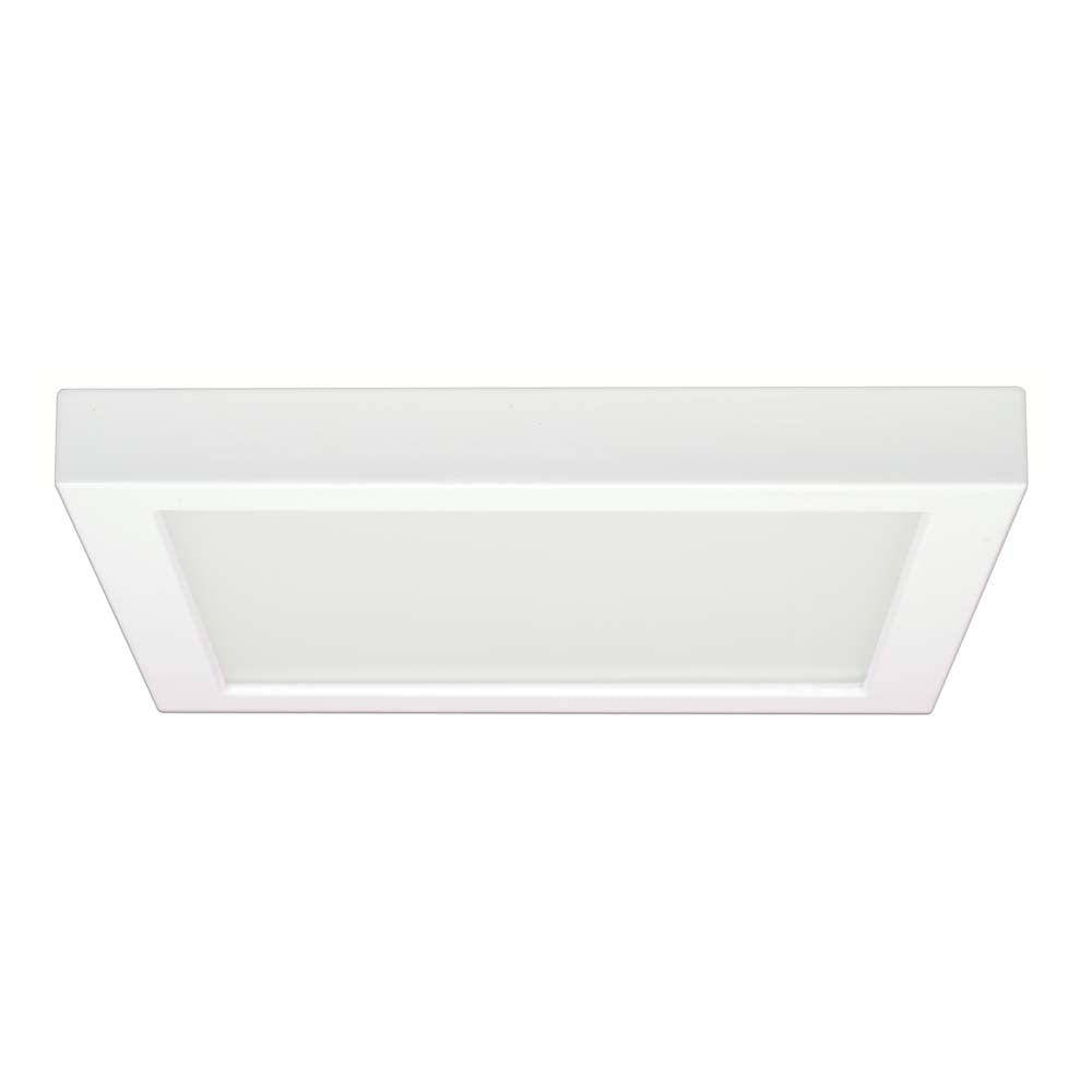 Satco 9in. 18.5w Flush Mount LED Fixture 2700K Square White Finish 120 volts
