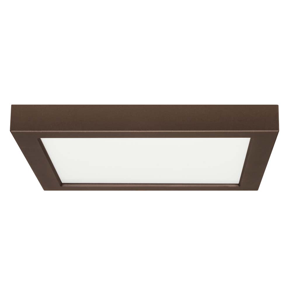 Satco 9in. 18.5w Flush Mount LED Fixture 2700K SquareBronze Finish 120 volts