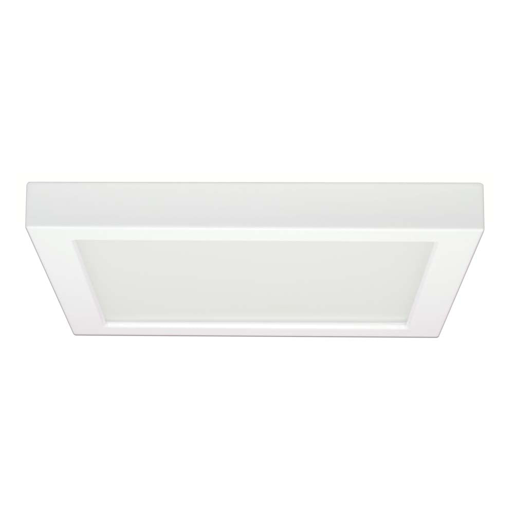 Satco 9in. 18.5w Flush Mount LED Fixture 3000K Square White Finish 120 volts