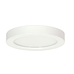 Satco 9in. 18.5w Flush Mount LED Fixture 3000K RoundWhite Finish 277 volts