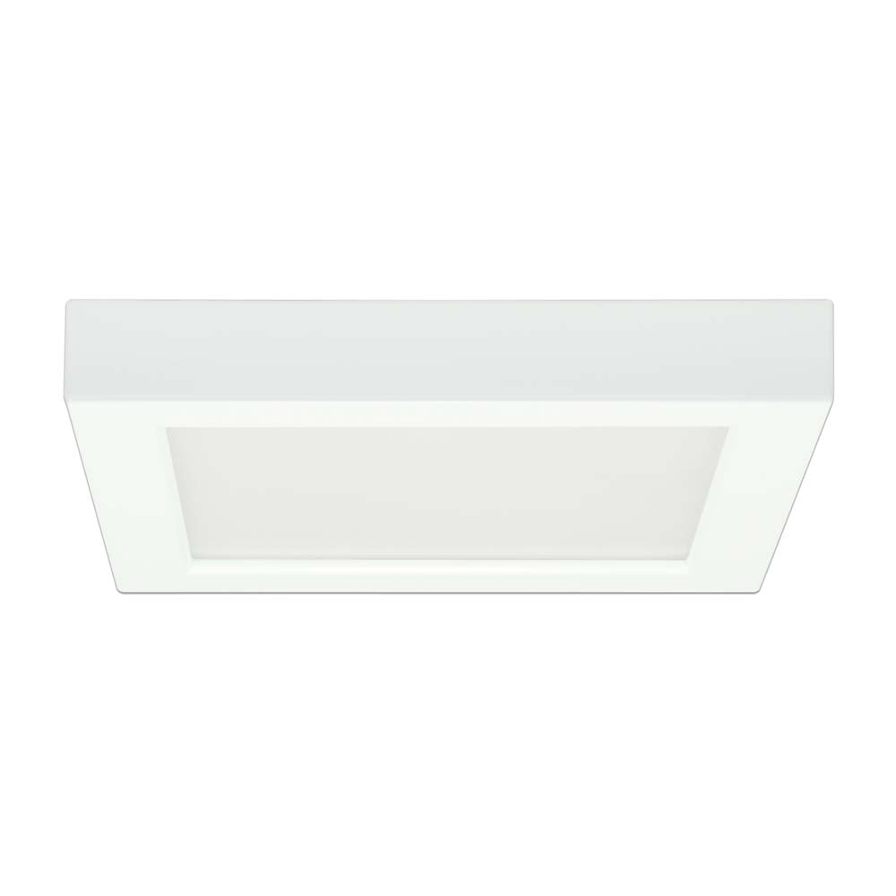 Satco 7in. 13.5w Flush Mount LED Fixture 5000K Square White Finish 120 volts