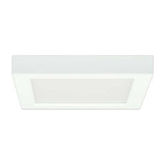 Satco 7in. 13.5w Flush Mount LED Fixture 5000K SquareWhite Finish 120 volts
