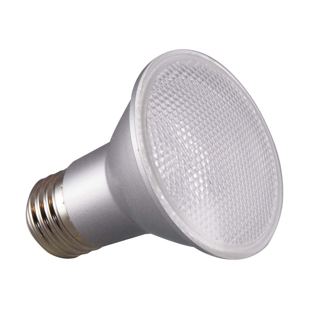 Satco 6.5w PAR20 LED 40 deg. Beam E26 Medium base 3000k Warm White