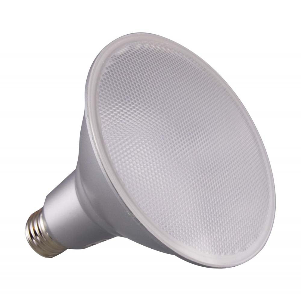 Satco 15w PAR38 LED 60 deg. Beam E26 Medium base 5000k Natural Light