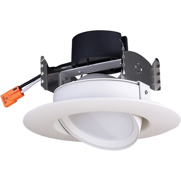 9.5W LED 120V 4in. Gimbal Retrofit Downlight 90' Beam spread 3000K Soft White