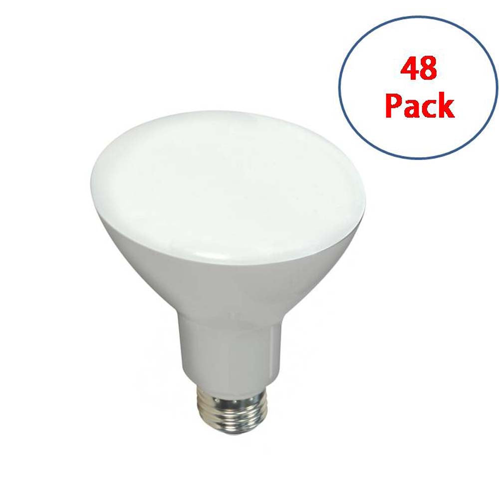 48Pk - Satco 10w LED BR30 700Lm 2700K Warm White E26 Base Dimmable Bulb