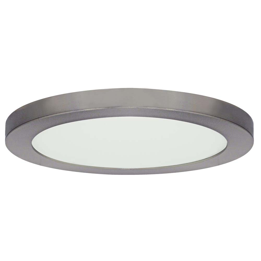Satco 13in. 25w LED Fixture 3000K Round Brushed Nickel Finish 120 volts