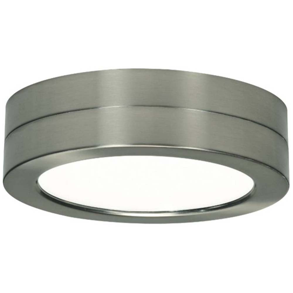 Satco S29654 Battery Backup for Flush Mount LED Fixture Brushed Nickel bulb