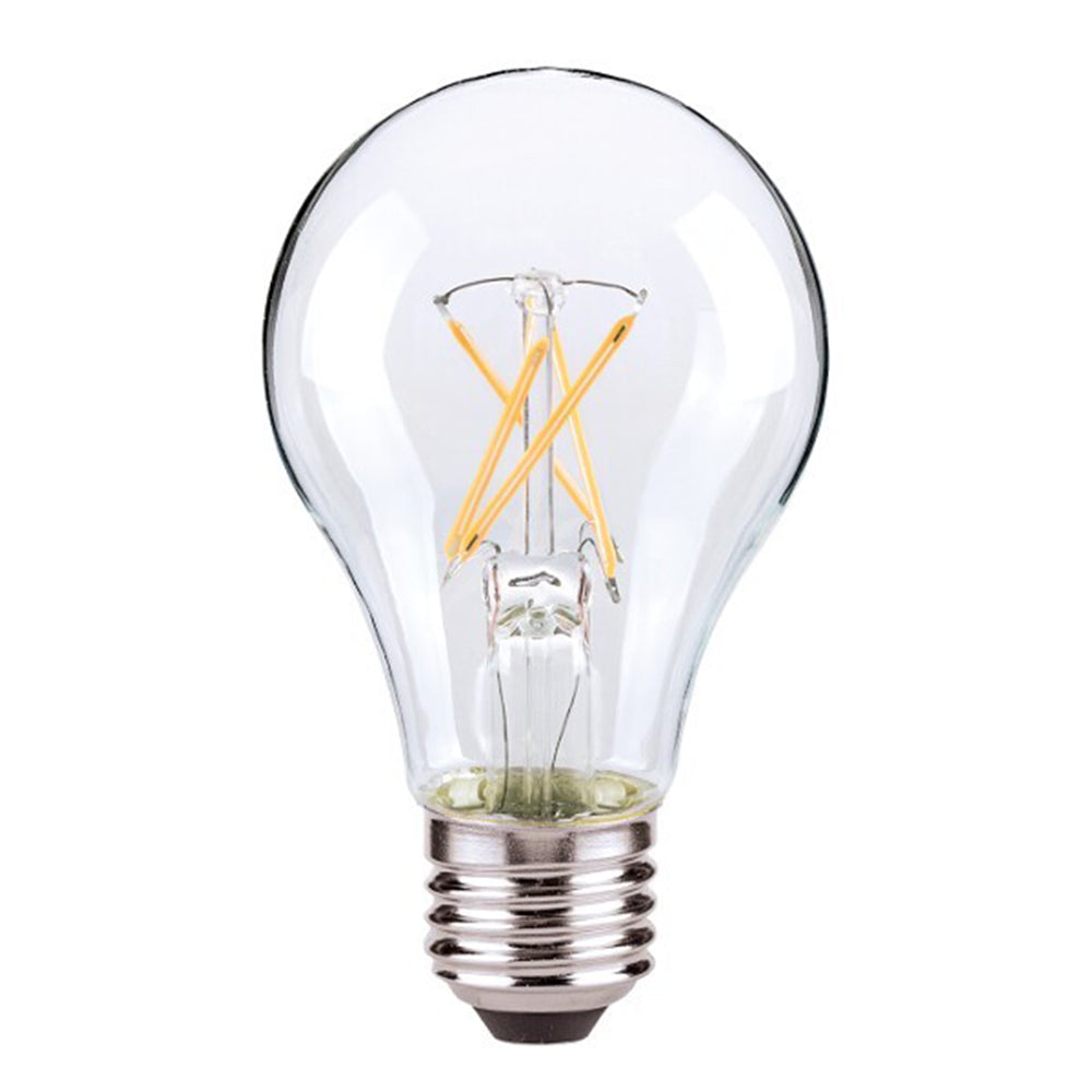 Satco Antique LED 7W A19 Dimmable 2700K Vintage Bulb - 60w equiv.