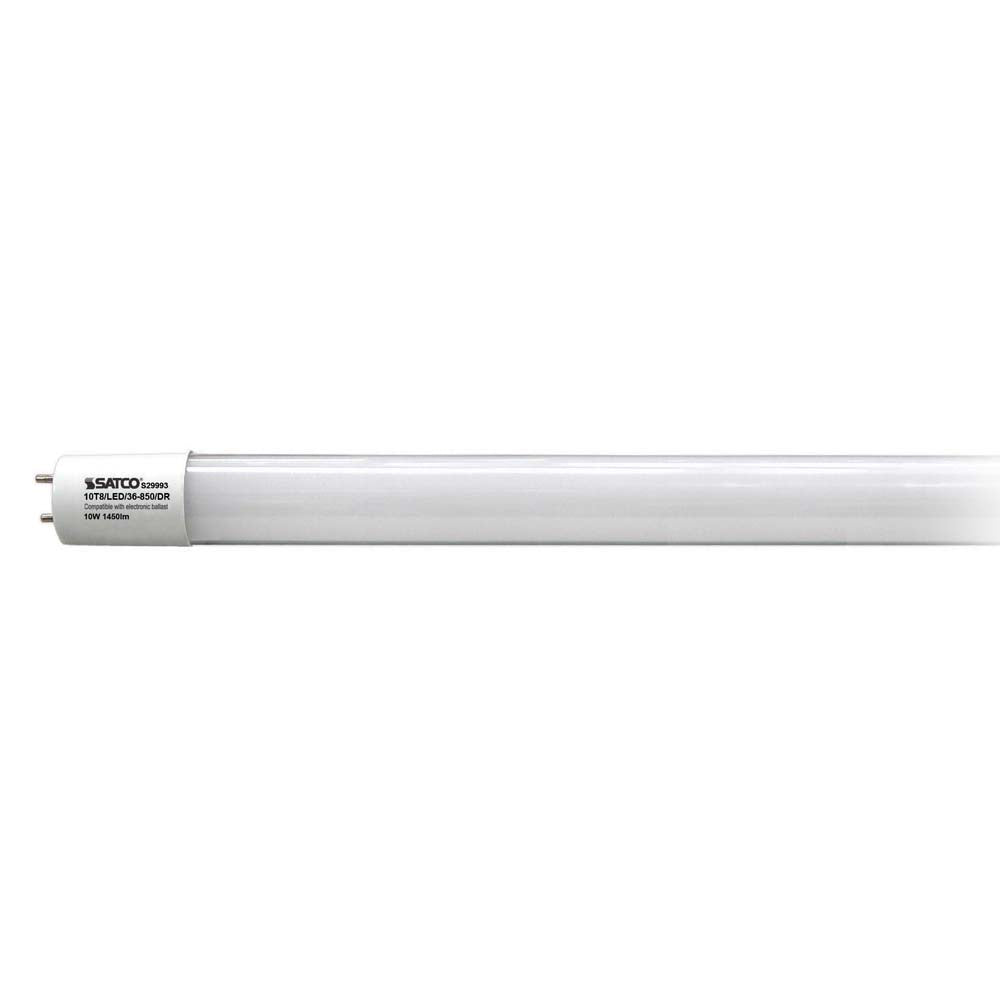 Satco 10Pk. 10w T8 LED 5000K Medium Bi Pin base 1450 Lumens
