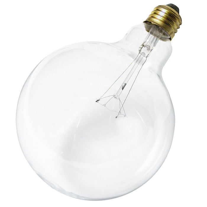 Satco S3013 100W 120V Globe G40 Clear E26 Base Incandescent light bulb