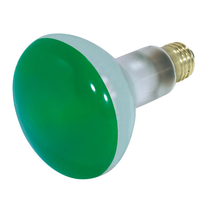 Satco S3227 75W 130V BR30 Green E26 Medium Base Incandescent light bulb