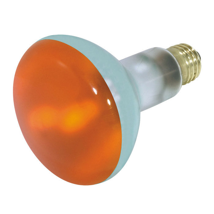 Satco S3239 75W 130V BR30 Amber E26 Medium Base Incandescent light bulb