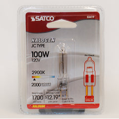 Satco S3419 100W 120V GY6.35 base halogen light bulb
