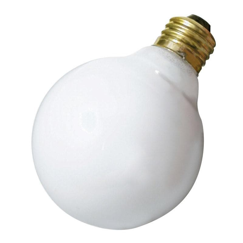 Satco S3442 60W 120V Globe G25 Gloss White E26 Base Incandescent light bulb