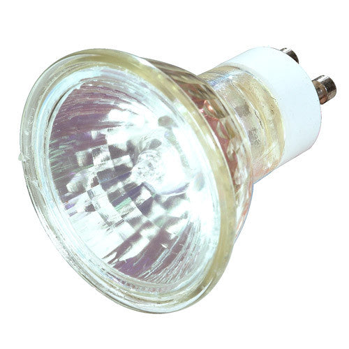 Satco S3502 50W 120V MR16 GU10 w/ Front Glass Flood halogen light bulb