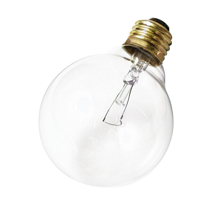 Satco S3651 25W 120V Globe G30 Clear E26 Base Incandescent light bulb