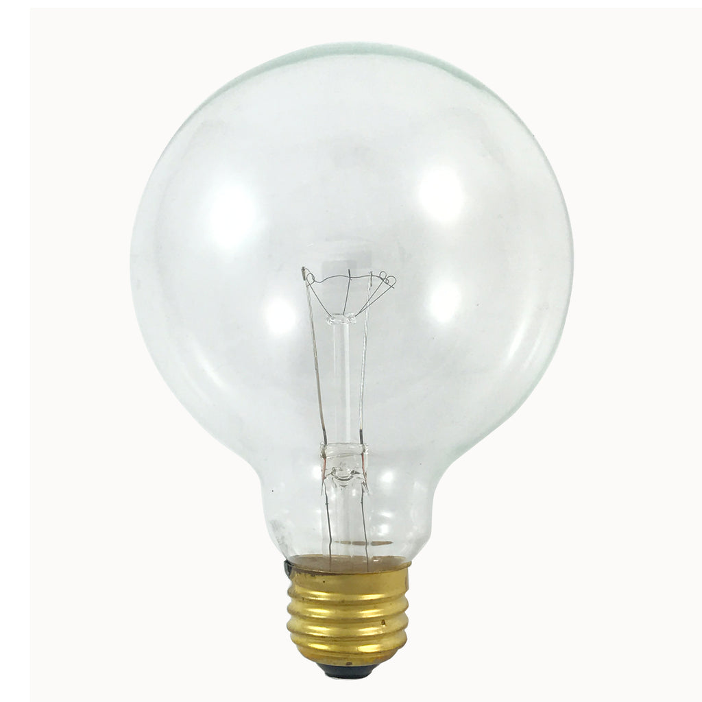 Satco S3652 40W 120V Globe G30 Clear E26 Base Incandescent light bulb