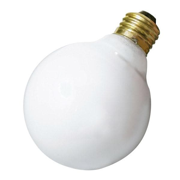 Satco S3672 60W 120V Globe G30 White E26 Base Incandescent light bulb