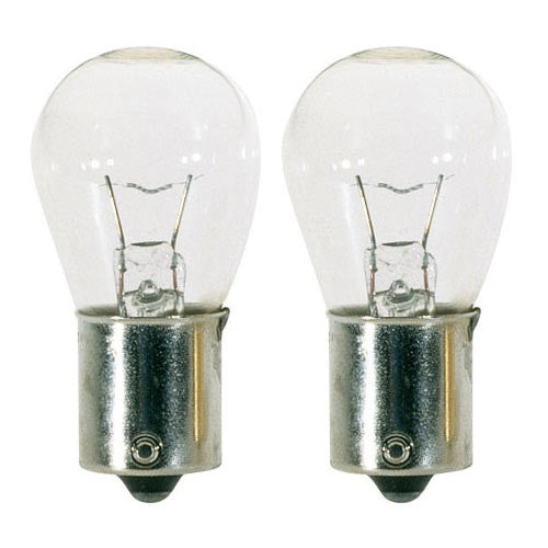 GE 90901 12S8 12W 12V S8 Clear BA15S high intensity light bulb - 2 pack