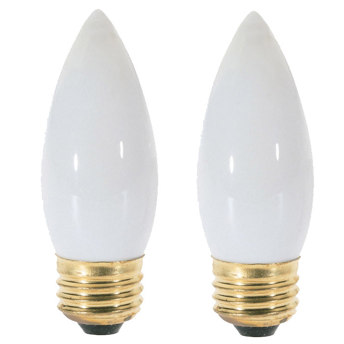 Satco S3738 40W 120V B10.5 White E26 Incandescent light bulb - 2 Pack