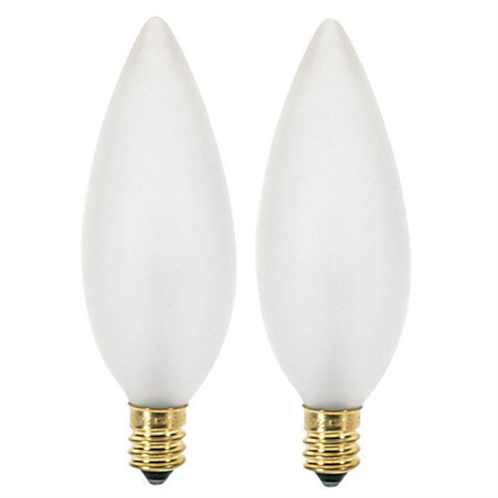 Satco S3785 25W Frosted E12 Candelabra Base Incandescent lamp - 2 bulbs
