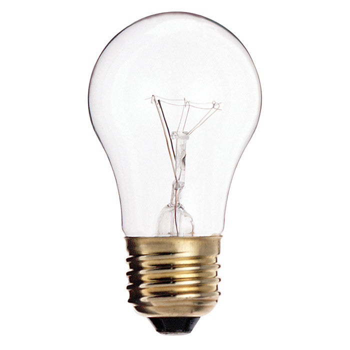 Satco S3810 40W 130V A15 Clear E26 Oven rated Incandescent light bulb