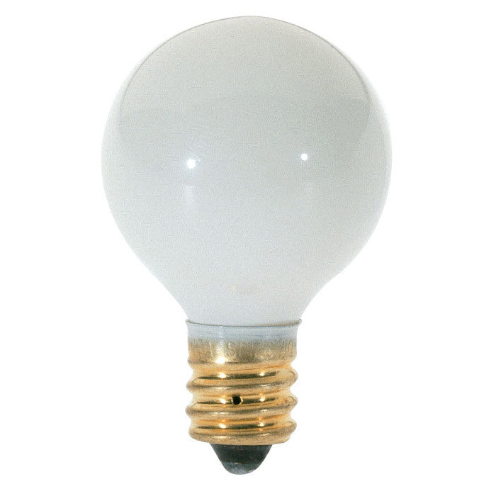 Satco S3864 10W 120V Globe G8 Gloss White E12 Incandescent light bulb
