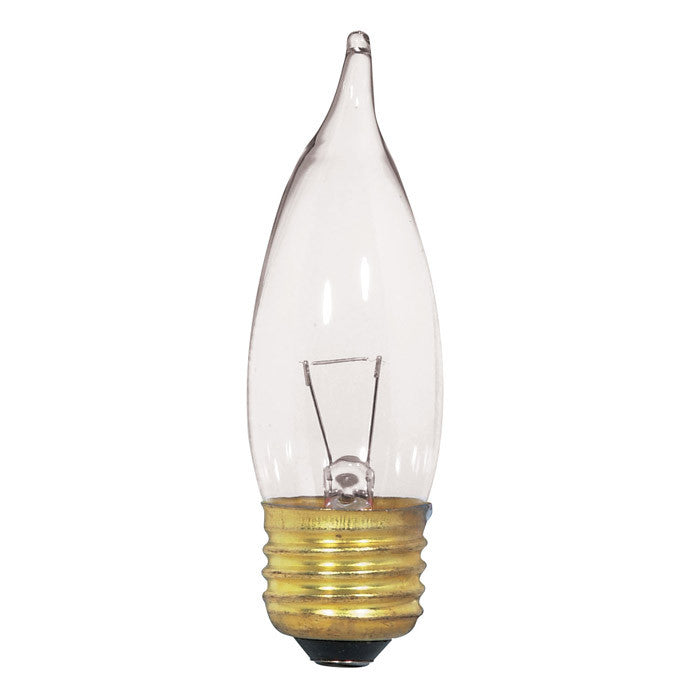 Satco S3869 25W 12V CA10 Clear E26 Medium Base Incandescent light bulb