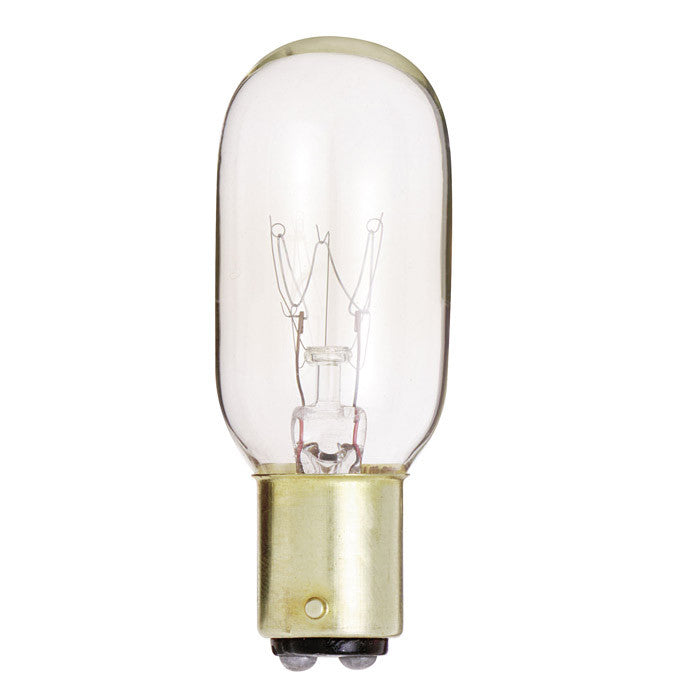 Satco S3909 25W 130V T8 Clear BA15d Incandescent light bulb