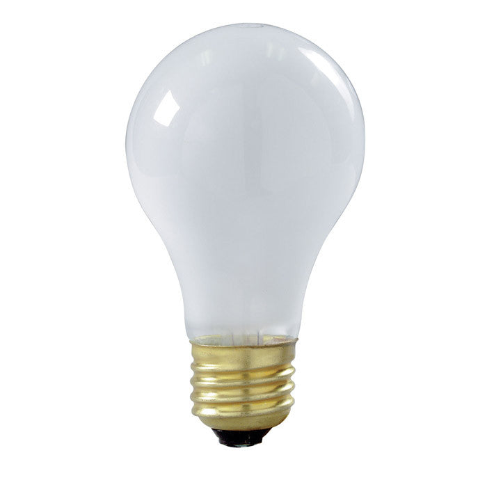 2Pk - Satco S3929 100W 130V A19 Frost Shatter Proof Incandescent Lamp