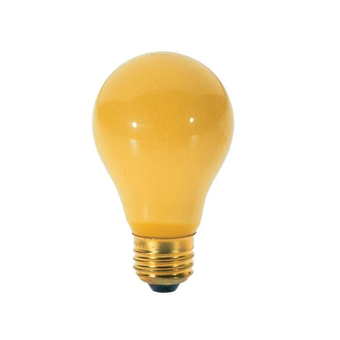 Satco S3939 100W Incandescent Chase a Bug Yellow Light Bulbs