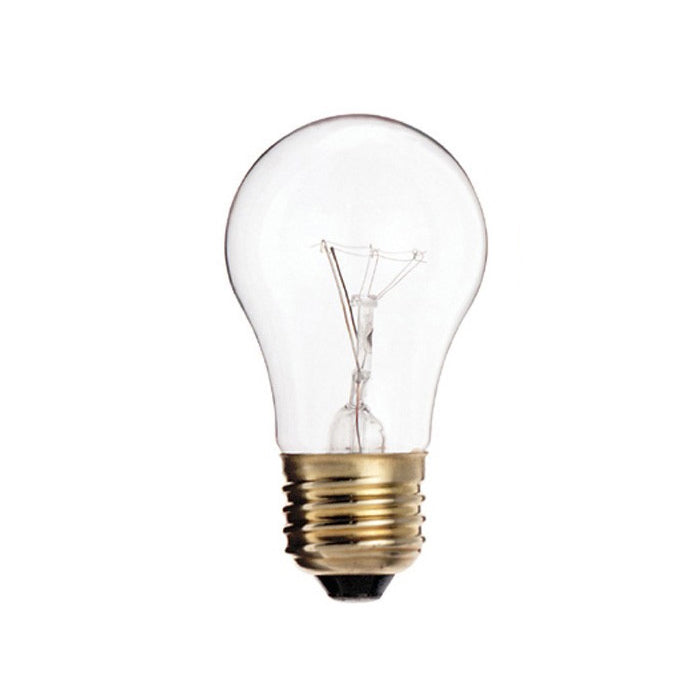 Satco S3948 15W 130V A15 Clear E26 Medium Base Incandescent - 2 light bulbs