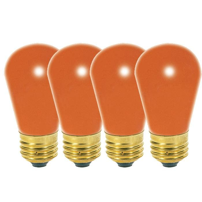 Satco S3964 11W 130V S14 Ceramic Orange E26 Base