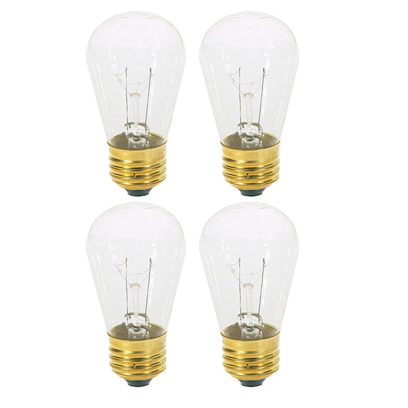 4Pk - Satco S3965 11W 130V S14 Clear E26 Base Incandescent