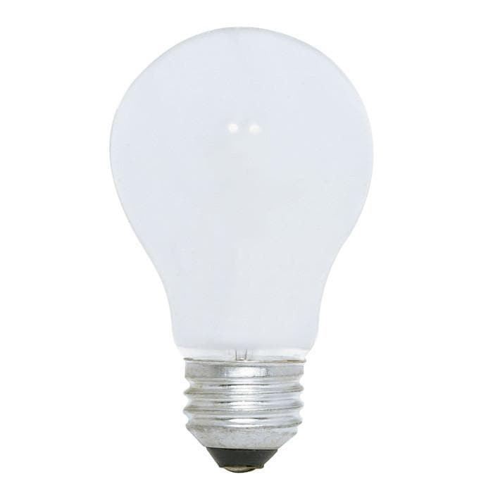 Satco S3992 60W 120V A19 White E26 Medium Base Incandescent light bulb