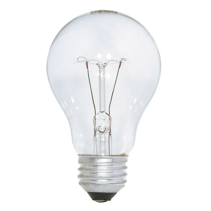 Satco S4022 75W 130V A19 Clear E26 Medium Base Incandescent - 4 bulbs